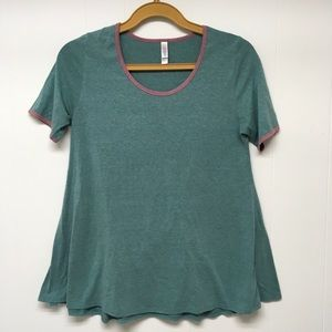 LuLaRoe Classic Tee Heather Teal Large